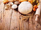 Traditional kitchen ingredients — Stock Photo