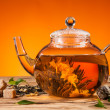 Blooming tea — Stock Photo
