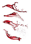 Red wine splashes — Stock Photo