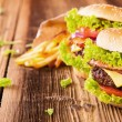 Fresh hamburgers — Stock Photo