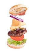Hamburger concept — Stock Photo