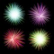 Firework on black background — Stock Photo #39400097
