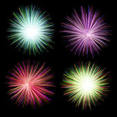 Firework on black background — Zdjęcie stockowe