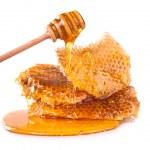 Honeycomb, isolated on white background — Photo