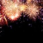 Firework on black background — Stock Photo
