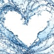 Water heart — Stockfoto