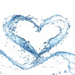 Water heart — Stockfoto #39577083