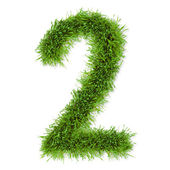 Grass number — Stock Photo