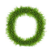Grass letter — Stock Photo