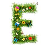 """Jarní písmeno """"e"""" — Stock fotografie"""