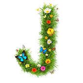 """Spring letter """"J"""" — Stock Photo"""