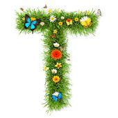 "Spring letter ""T"" — Stock Photo"