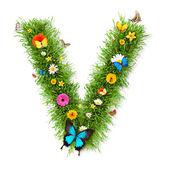"""Spring letter """"V"""" — Stok fotoğraf"""