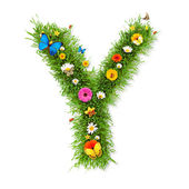 """Spring letter """"Y"""" — Stock Photo"""