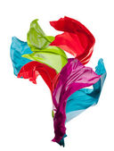 Abstract colored silk on white background — Stock Photo