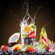Tropical ice drink with splash — Stock Photo #44818745