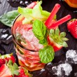 Fresh strawberry mojito drink — Stock Photo #45108389