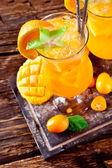 Fresh orange cocktails from upper view — Stock Photo