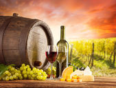 Red and white wine still life — Stock Photo