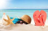 Summer sandy beach — Stock Photo