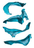 Blue cloth in motion — 图库照片