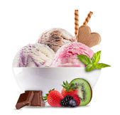 Ice cream on white background — Stock Photo