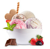 Ice cream on white background — Stockfoto