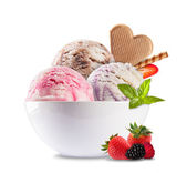 Ice cream on white background — Stock Photo