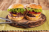 Fresh hambugers — Stock Photo