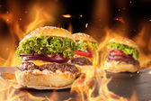 Hambugers fresca — Foto Stock