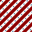 Red and White Striped Fabric Background with Stars — Stock Photo #12586180