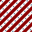 Red and White Striped Fabric Background with Stars - Stock Photo