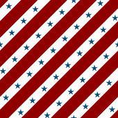 Fond de tissu rayé rouge et blanc avec des étoiles — Photo
