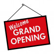 Welcome Grand Opening Sign - Stock Photo