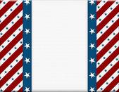 为您的消息或 inv 红色和白色的美国庆祝帧 — 图库照片