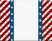 Red and White American celebration frame for your message or inv — Stockfoto