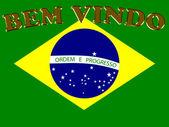 Bem Vindo to Brazil — Stock Photo