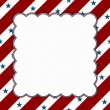 Red and White American celebration frame for your message or inv — ストック写真
