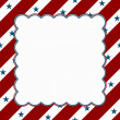Stock Photo: Red and White Americcelebration frame for your message or inv