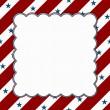 quadro de celebração americana de vermelho e branco para a sua mensagem ou inv — Foto Stock