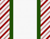 Red, Green and White Christmas Frame for your message or invitat — Stock Photo