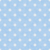 Pale Blue Fabric with Flowers Background — Stock Photo
