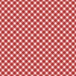 Red Gingham Fabric  Background — 图库照片