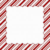 Red and White Christmas Frame for your message or invitation — Stock Photo
