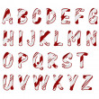 Royalty-Free Stock Photo: Christmas Candy Cane Color Alphabet Letters