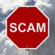 Stock Photo: Stop Sign with word Scam