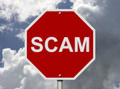 Stop Sign with word Scam — Stock Photo