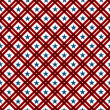Red and White Striped Fabric Background with Stars — Stock Photo