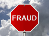 Stop Sign with word Fraud — Stock Photo