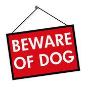Beware of Dog Sign — Stock Photo